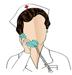 Beautiful friendly and confident nurse talking by vector