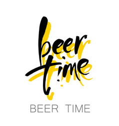 beer time lettering vector image