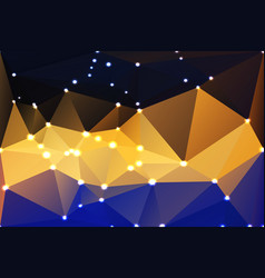 Blue yellow orange black geometric background vector