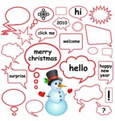 dialog bubbles vector image vector image