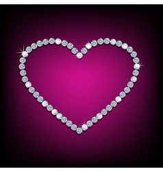 Diamond in shape of heart vector image vector image