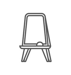 Floor whiteboard isolated icon in linear style vector