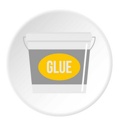 Glue bucket icon circle vector