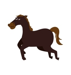 horse ride cartoon icon graphic vector image