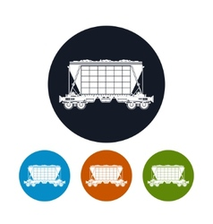 Icon hopper car for transportation freights vector