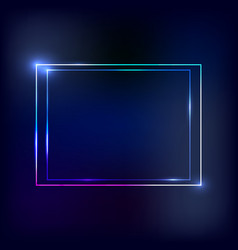 neon frame vector image vector image