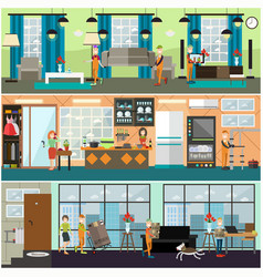 plumbing moving and delivery services concept vector image vector image