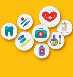 set medical icons for web design - vector image vector image