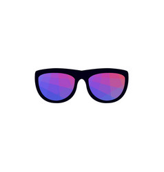 Sunglasses with colorful polygons vector