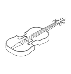Violin icon in outline style isolated on white vector image