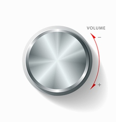 Volume knob vector image