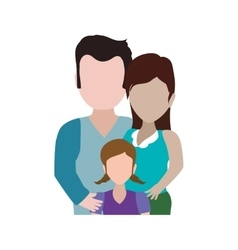 Family girl couple parents icon graphic vector