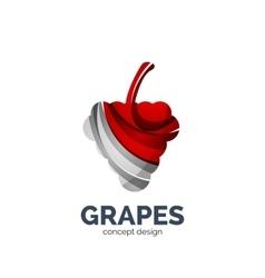 grapes creative abstract fruit logo vector image