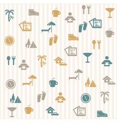 Tourist seamless pattern vector image