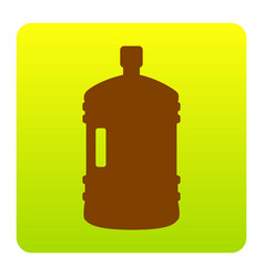 Plastic bottle silhouette sign  brown icon vector