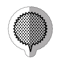 monochrome sticker with circular speech with vector image