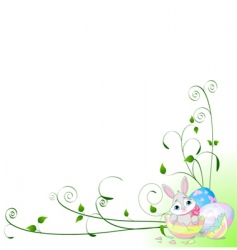 Easter surprise background vector image