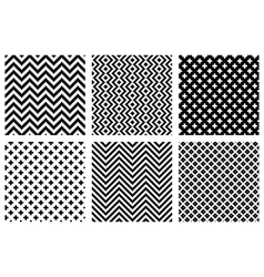 Set of 4 monochrome elegant seamless patterns vector image