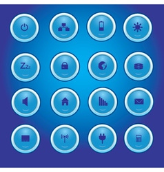 Laptop and pc indication blue light buttons eps10 vector