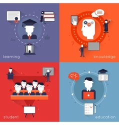 Higher education flat vector