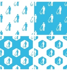 Keep clean patterns set vector
