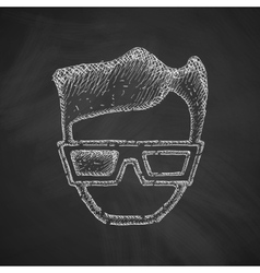 3d glasses icon vector