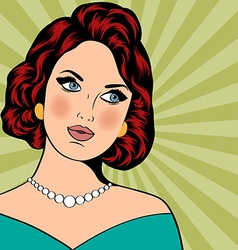 Pop art of woman vector