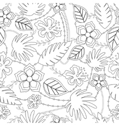 Coloring antistress with hawaiian pattern vector
