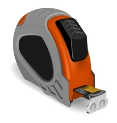 Photorealistic tape measure vector