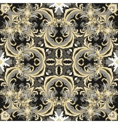 Baroque style floral wallpaper seamless vector