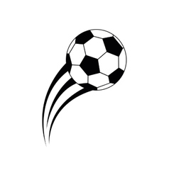 Balloon soccer isolated icon vector