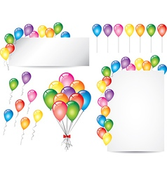 balloons set vector image vector image