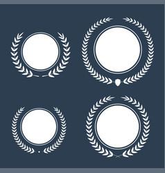 Best award award laurel wreath set winner vector