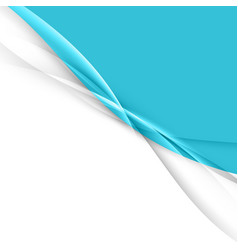 blue abstract transparent wave layout vector image vector image