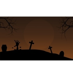 Brown backgrounds Halloween hand zombie vector image vector image