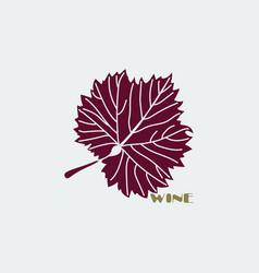 burgundy grape leaf vector image