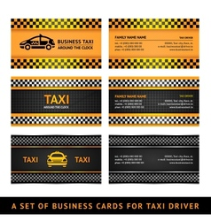 Business card taxi vector image vector image