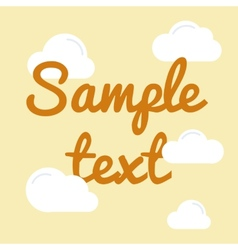 Cloud with text in flat style vector image vector image