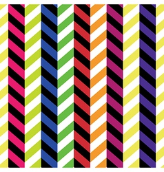 colorful chevron pattern seamless background vector image vector image