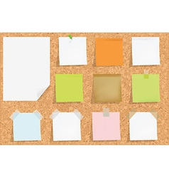 Cork Board With Notes vector image