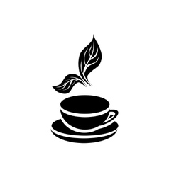 Cup of tea icon simple style vector image vector image