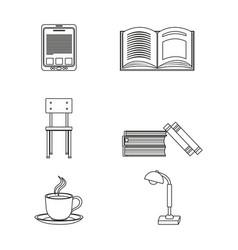 Elearning icon set design vector