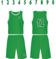 green basketball uniform vector image