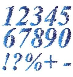 Grunge blue numbers vector