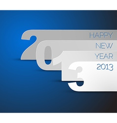 Happy New Year 2013 blue card vector image vector image
