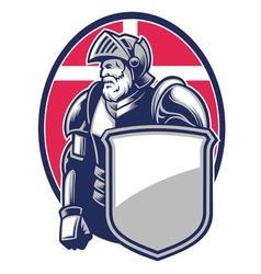 knight mascot open the helmet vector image vector image