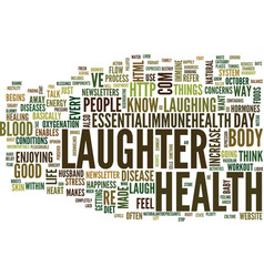 Laughter why it s so good for you text background vector