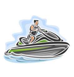 man on jet ski vector image vector image