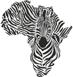 Map of Africa with the head of giraffe vector image