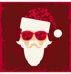 Merry christmas background with santa in hipster vector